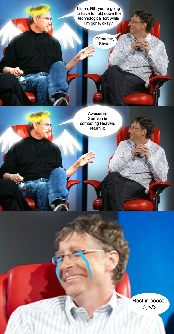stevejobs steve jobs vs bill gates image gallery know your meme,Bill Gate Meme