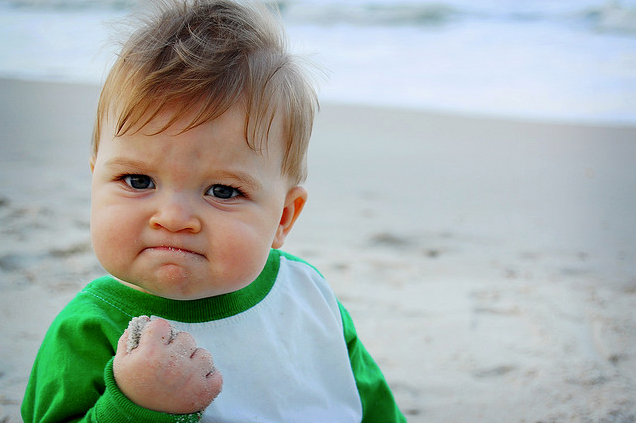 Baby Fist Pump Meme http://knowyourmeme.com/memes/success-kid-i-hate-sandcastles