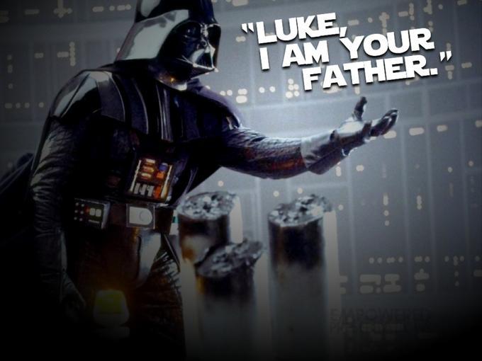 LUE IAM YOUR FATHER. Luke Skywalker Anakin Skywalker Han Solo