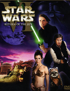 WARS RETURN OF THE JED DVE George Lucas Return of the Jedi poster film television program