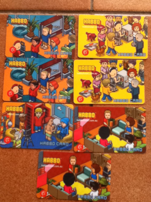 Habbo Game Cards