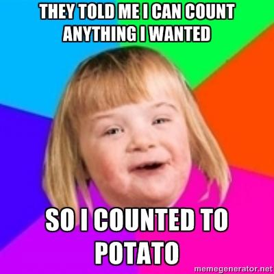 they told me i can count