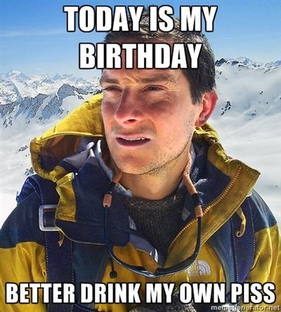 B-day pissing
