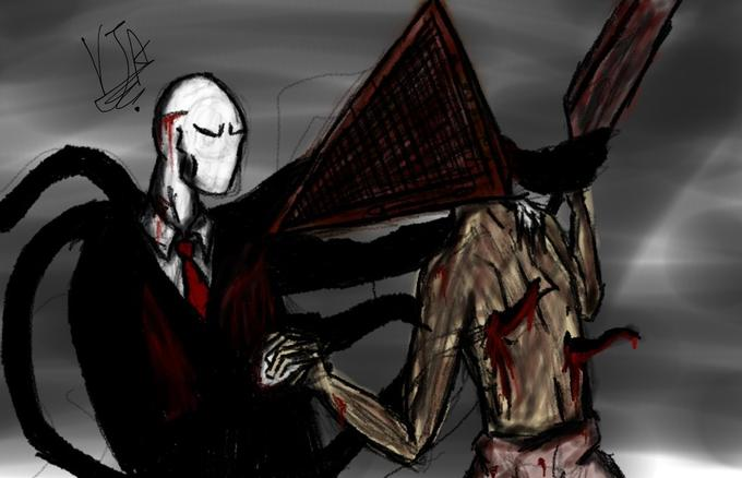 Slender Man V.S Pyramid Head