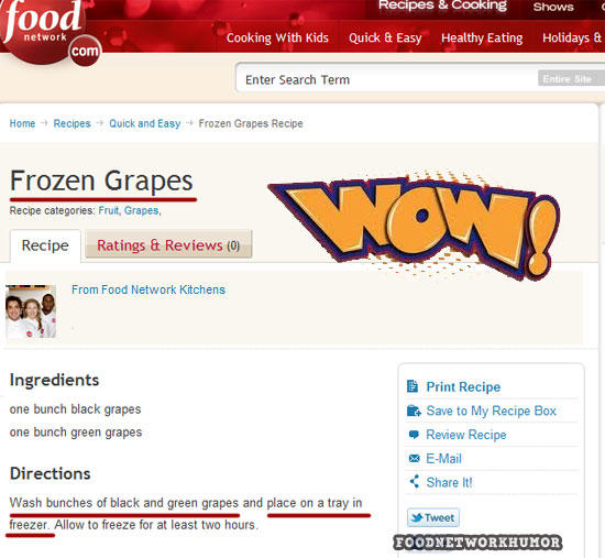 Frozen grapes food network recipe reviews know your meme recipes cooking shows ood network cooking with kids quick easy healthy eating holidays com forumfinder Gallery