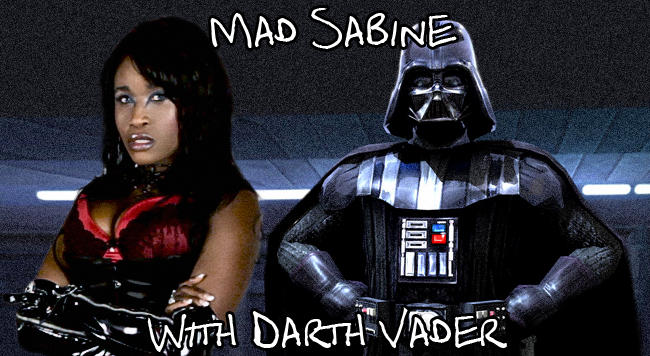 Mad Sabine Mondestin With Darth Vader