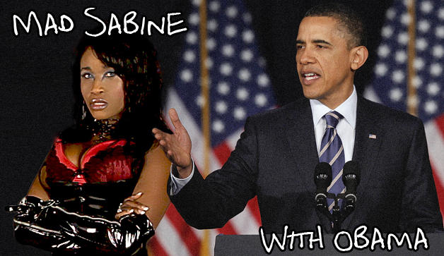 Mad Sabine Mondestin With Obama