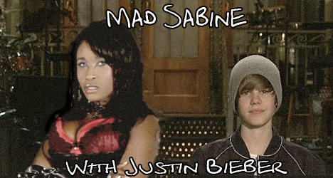 Mad Sabine Mondestin With Justin Bieber