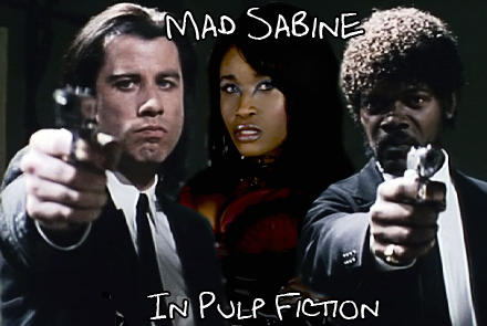 Mad Sabine Mondestin in Pulp Fiction