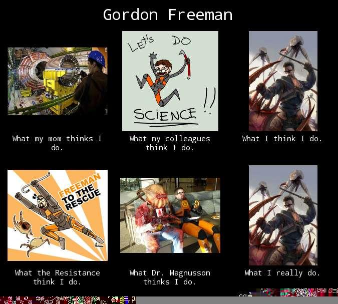 What People Think Gordon Freeman Does