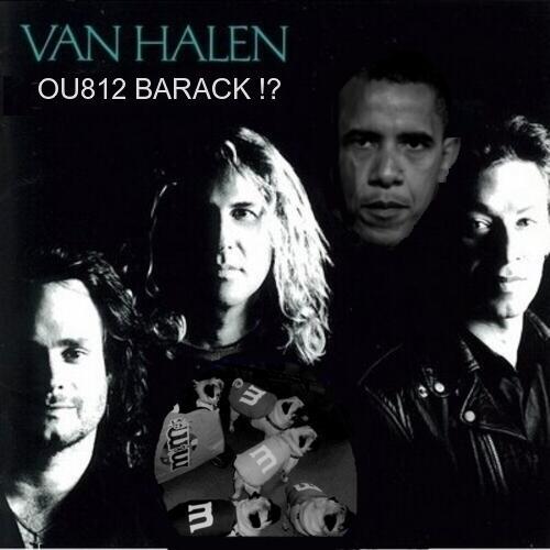 OU812 Van Halen Obama