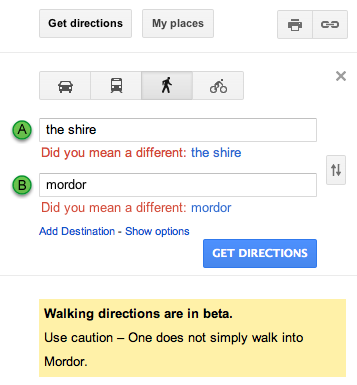 One Does Not Simply Google Into Mordor