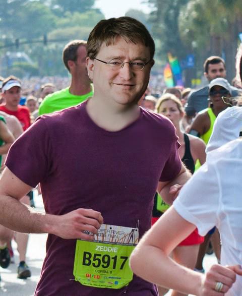 Ridiculously Photogenic Gabe Newell