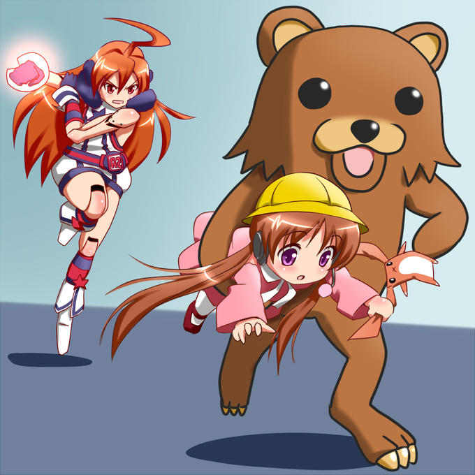 Pedobear attacks the Vocaloids