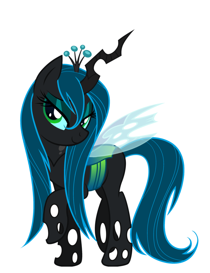 Queen Chrysalis wet mane