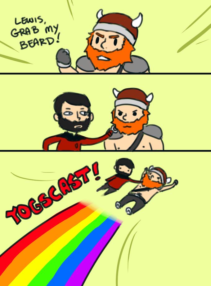 Yogscast : Lewis Grab My Beard
