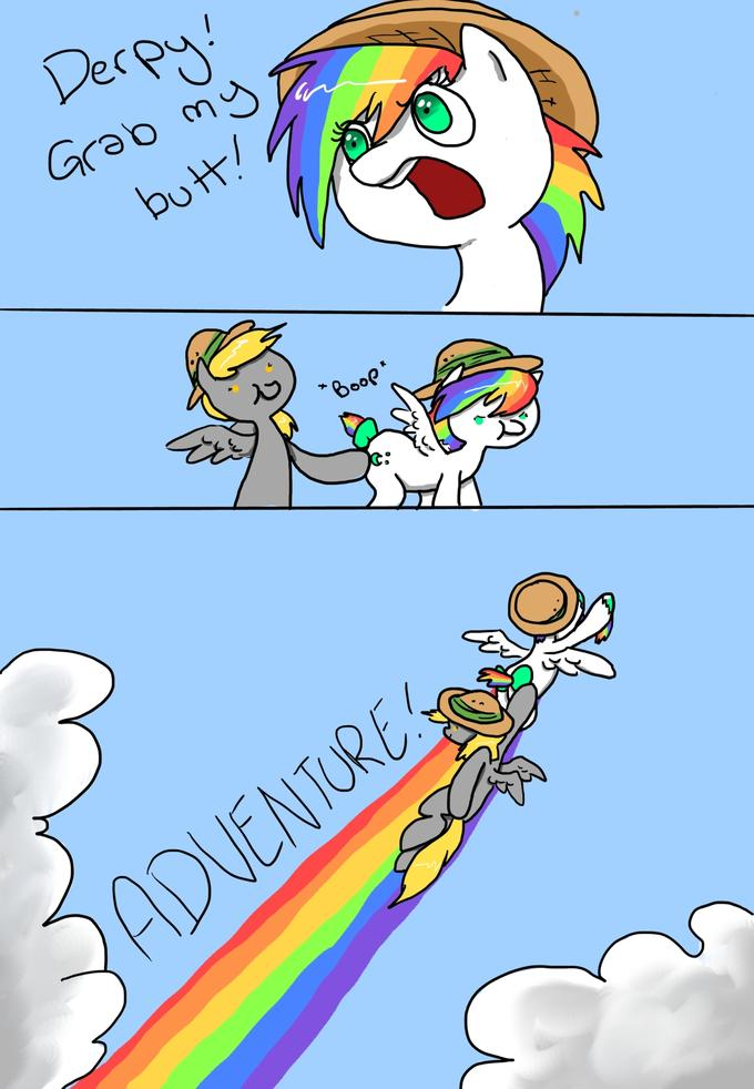 Tune in next time for more slightly inappropriate adventures with…  DERPY DO AND DARING DUST!