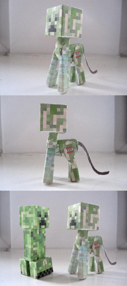 Creeper papercraft ponified