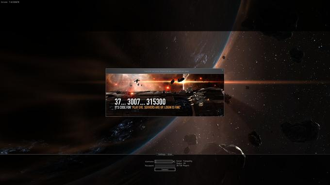 Meanwhile, on Eve-Online's Login Screen