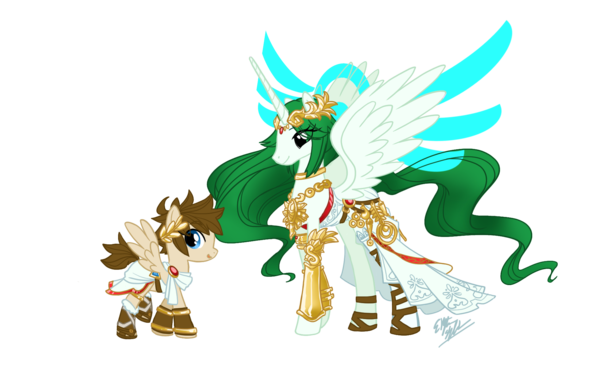 Pit and Palutena ponified