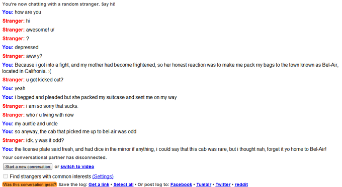Fresh Prince'd on Omegle Episode 1