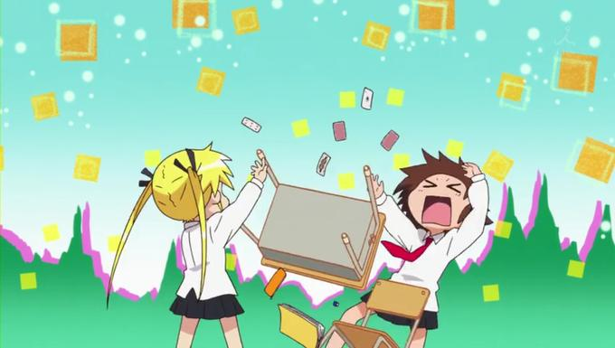 """Flipping Table (Sonya and Yasuna from """"Kill Me Baby"""")"""