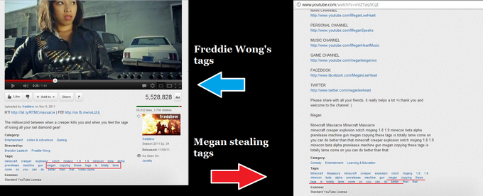 Freddie Wong's Message Tags To MeganSpeaks