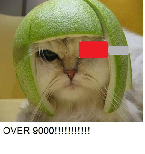 Over 9000 lime cat!