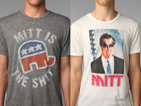 Mitt Romney shirts at Urban Outfitters