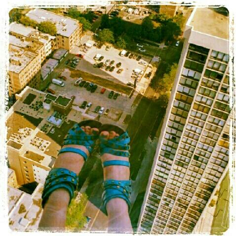 My two feet at 550 feet above Chicago.