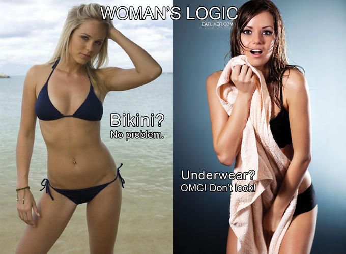 Women Logic on Swimwear and Underwear