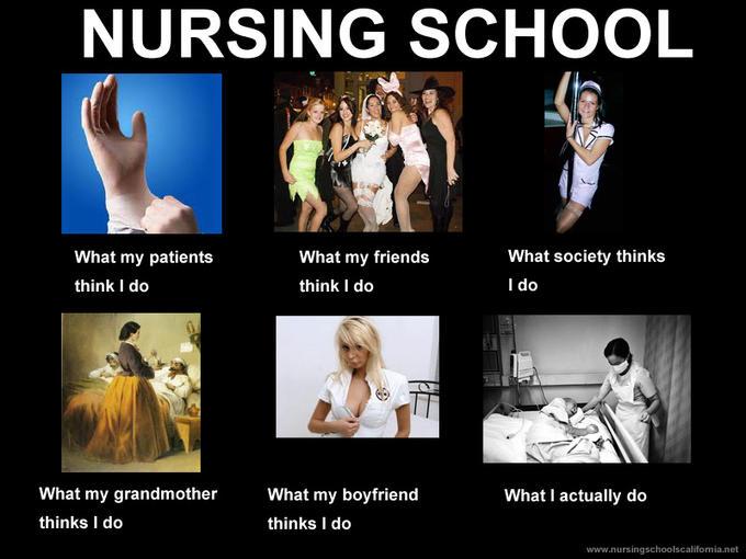 Nursing school - what people think I do