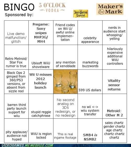 2012 E3 Bingo