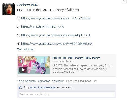 ANDREW W.K A BRONY?