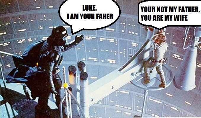 I am your father,
