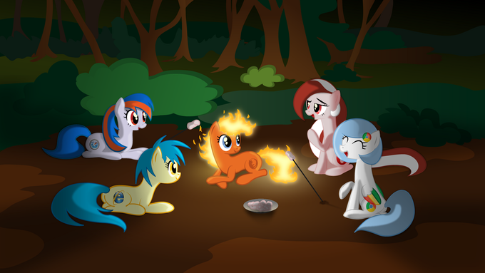 All major browsers ponified having a camp fire