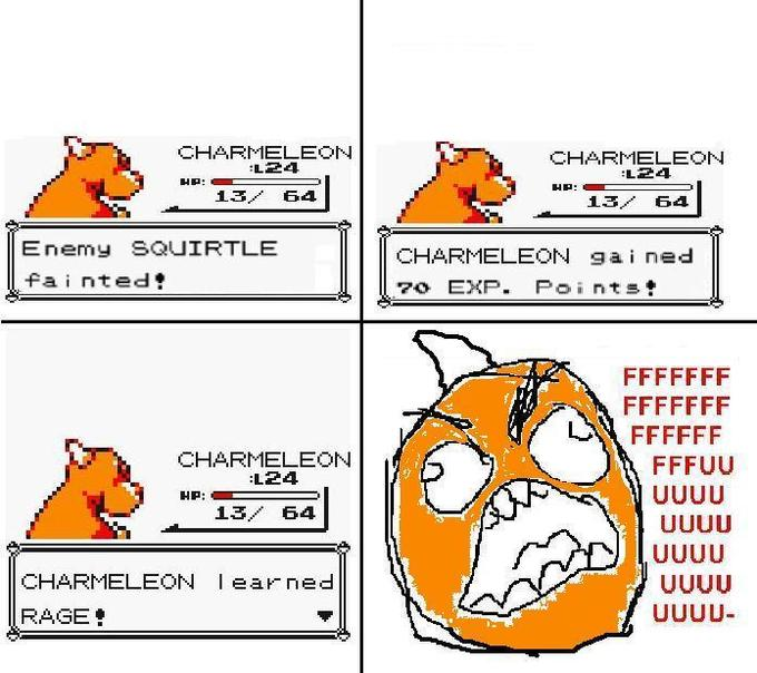 Charmander learned Rage!