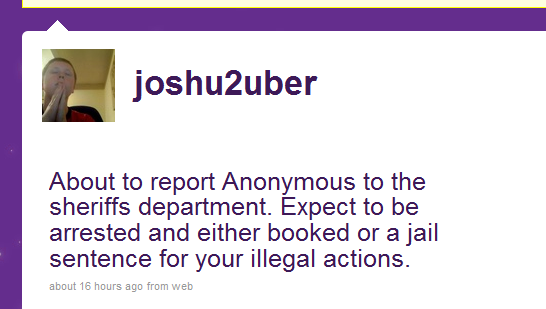 JoshU2uber Announced On Twitter He Called The Police
