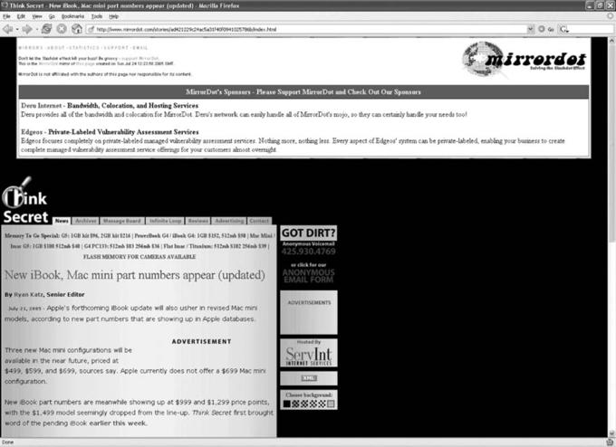 MirrorDot Homepage