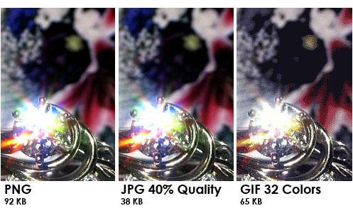 PNG vs JPG vs GIF