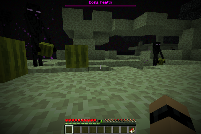 Endermen carrying watermelons.  I think you know where this is going...