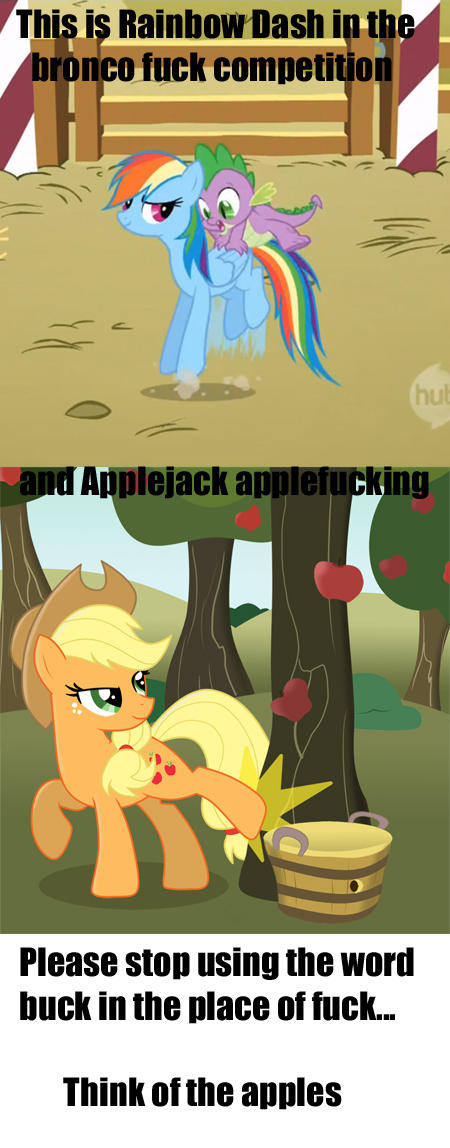 Think of the apples