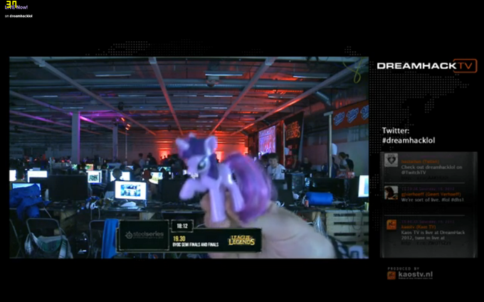 Twilight Sparkle spotted in Dreamhack stream