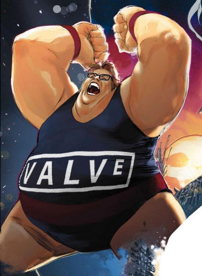 Gabe Newell as The Blob