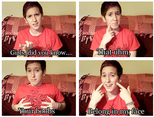 Lesbian says what she wants