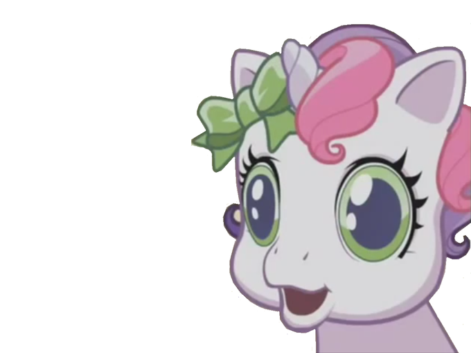 Sweetie belle stares into blank space