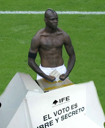 Balotelli votes for mexican president