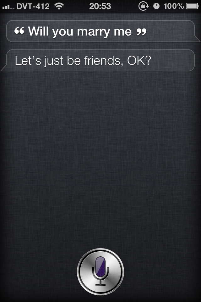 Friend-zoned by Siri