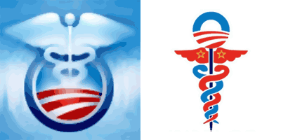 National Health Care Symbol: Obama Adminstration vs. Conservative