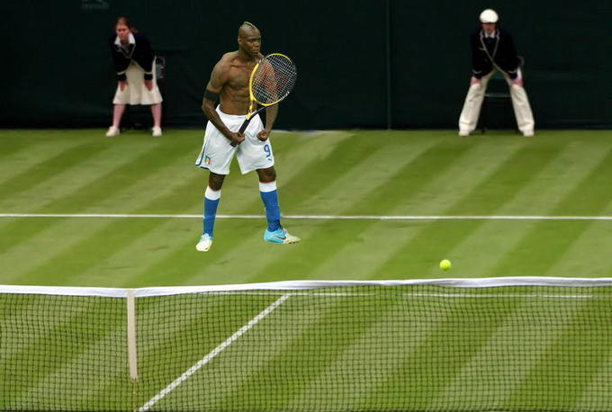 Balotelli goes wimbledon II